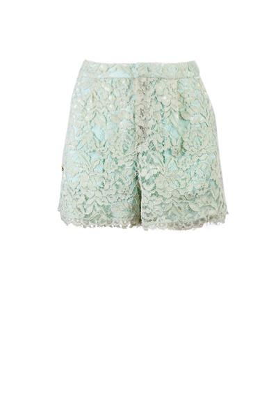 Aquamarine lace shorts